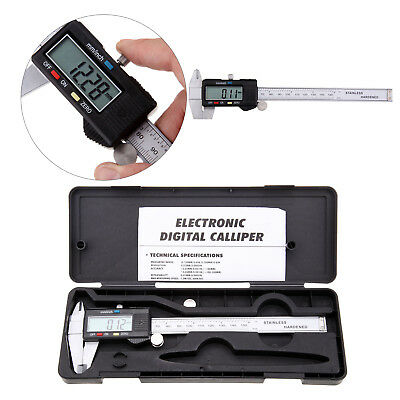 "Stainless Steel Electronic Digital Vernier Caliper Micrometer Guage LCD 6"" 150mm"