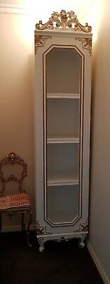 French Provincial Louis XV style Display cabinet book shelves