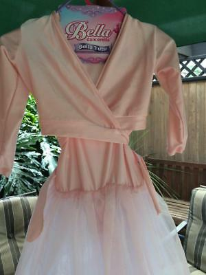 Girls Size 5 To 7 Bella Outfit With Tutu And Jacket Not Used