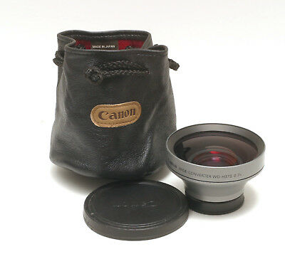 Canon Wd-H37Ii 0.7X Wide Angle Adapter For Video Camcorders