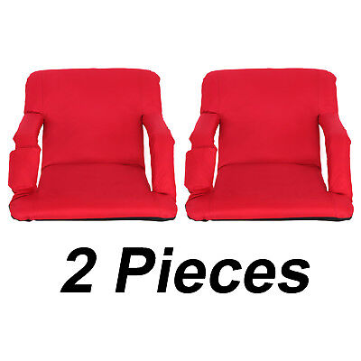 2 Pieces Wide Stadium Seats Chairs for Bleachers Benches - 5 Reclining Positions