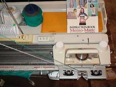 KNITTING MACHINE SINGER sk 329 KNITS BEAUTIFULLY & HAS HAD FULL SERVICE VGC