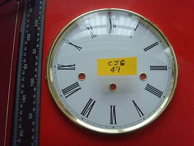 27/2:cjs#49   Quality Kieninger  brass  clock bezel & dial with glass 197mm od