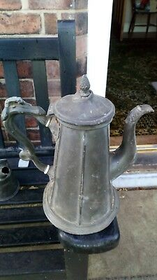 Antique Pewter/silver ? coffee jug