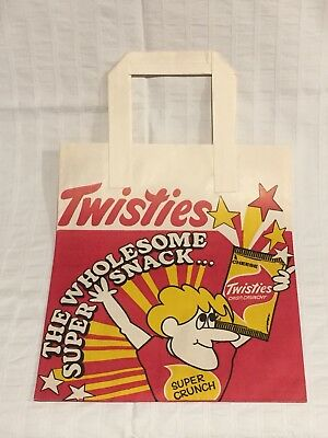 1970s AUSTRALIAN ADVERTISING PAPER SHOWBAG TWISTIES SNACK POTATO CHIPS