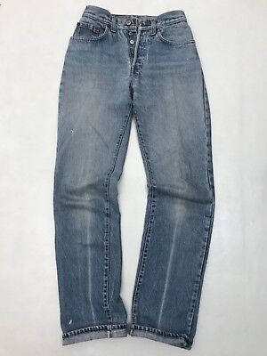 Vintage 70s Levi's 501 High Rise Waist 26 Women Mom Worn Distressed Made in USA