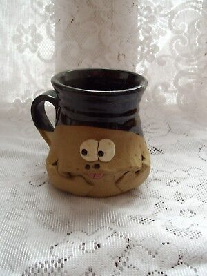 Pretty Ugly Pottery Mug Made In Wales:brand New Without Tags:circa 2000:rare!