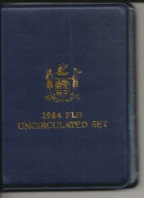 FIJI - 1984 - UNC COIN SET - LIMITED EDITION - In Blue Wallet