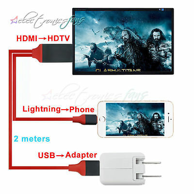 Lightning to Digital AV TV HDMI Cable Adapter For Ipad air iphone 7 7Plus 8