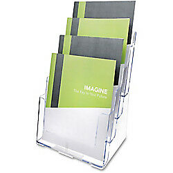 Deflect-O(R) Literature Holder, 4-Tier Magazine Size, 13 5/8in.H x 9 3/8in.W x