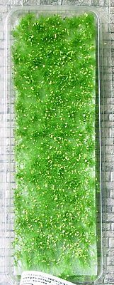 HO GROUND COVER - WEEDS AND TUFTS - SPRING GREEN with YELLOW FLOWERS #725-21s