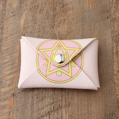 New Anime Sailor Moon Star Prism Pink Mini Wallet Key Bag Case Snap Purse Pouch