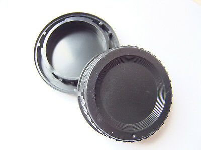 Nikon F fit body and rear lens caps