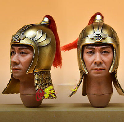 """1:6 Scale Ancient Chinese Helmet Model For 12"""" Male Body Doll Toys"""