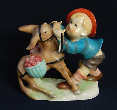 Vintage China Figurine / Ornament Boy with Donkey circa 1950's Japanese?