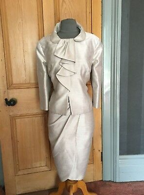 Gorgeous Betty Jackson Mother Of The Bride/evening Dress And Bolero , Size 16
