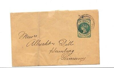 TRINIDAD 1898? POSTAL STATIONARY ½d WRAPPER USED PORT OF SPAIN CDS