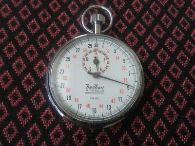 Hanhart Stoppuhr Stopwatch  1/10 Sec  3 Jewels