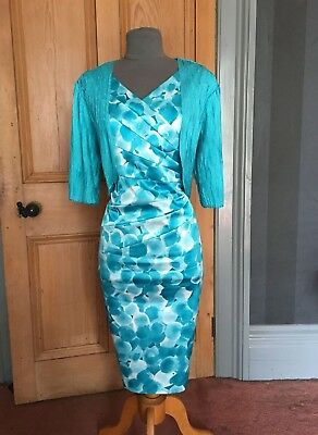Gorgeous Gold By Michael H Mother Of The Bride/evening Dress And Bolero ,sz 14