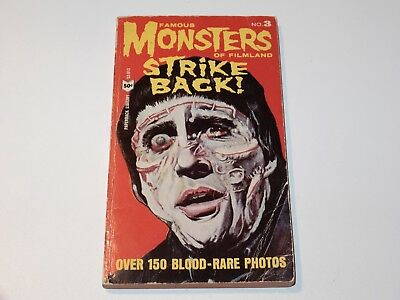 Famous Monsters Of Filmland Strike Back! 1965 1St Ed Karloff Christopher Lee