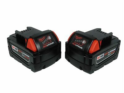 Milwaukee 48-11-1850 x2 5.0Ah 18-Volt Lithium-ion M18 XC Batteries 18V (2 Pack)