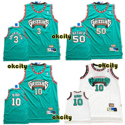 Vancouver Grizzlies Memphis NBA Stitch Sewn Men Jersey Adult Youth Abdur Rahim