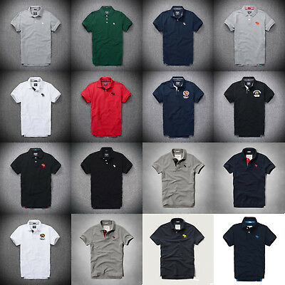 NEW Abercrombie & Fitch Mens Polo shirts by Hollister size S M L XL XXL with Tag