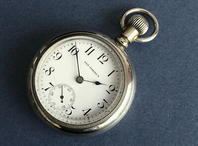 Very Nice Large Pan American (Seth Thomas) 18s Gents Pocket Watch. c1900 Antique