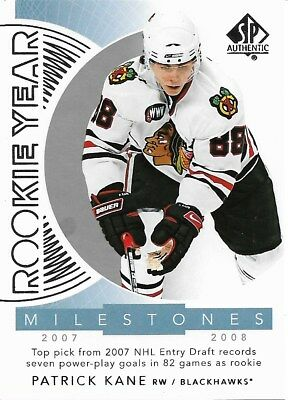 Patrick Kane #RYM-PK - 2017-18 SP Authentic - Rookie Year Milestones
