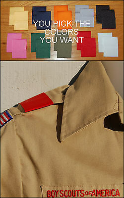 LOT of 5 Pairs  BSA Boy Cub Scout Uniform Shoulder Loops Epaulet U PICK COLORS!!
