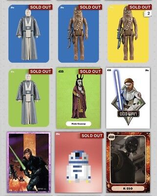 Star Wars Card Trader- 9 Insert Cards