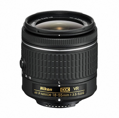 Nikon 18 - 55 mm f/3.5 - 5.6G VR AF-P DX Nikkor Lens for Camera