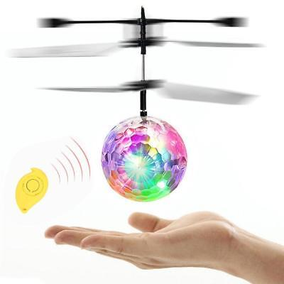 Infrarouge Induction Flash Flying Ball Colorful LED Disco RC Helicopter Toy EH
