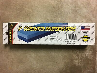 "8"" Combination Sharpening Stone - Coarse and Fine side for sharpening"