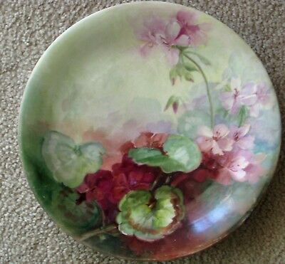 "Wonderful Large 12"" Elite France Antique Hand Painted Plate"