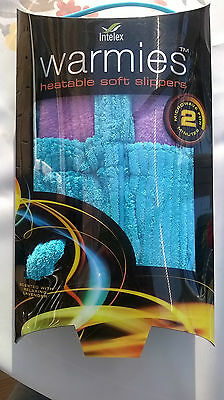 Intelex Aqua Warmies heatable slippers Lavender Scented Size 3-7Packaging has so