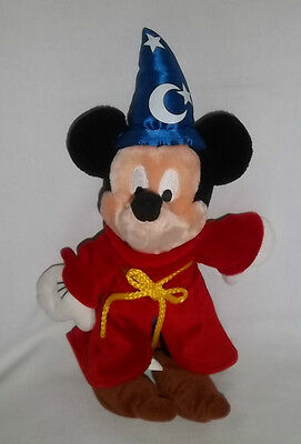 DISNEY WORLD 12  Plush FANTASIA SORCERER MICKEY MOUSE Stuffed Animal Toy Doll & MICKEY MOUSE PINK Sorcerer Costume Plush Doll 13