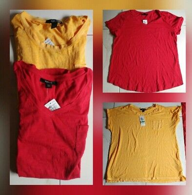 Womens Lot of 2 Style & Co Short Sleeve Tops Size Large NWT