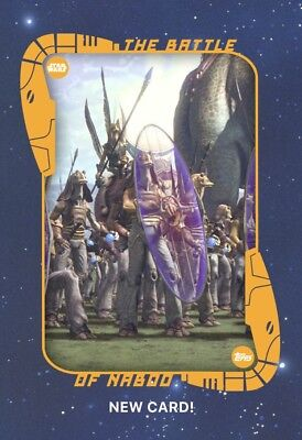 Star Wars Card Trader- The Battle Of Naboo Insert Card