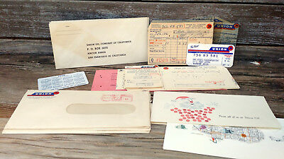 Vintage 1957 Union 76 Oil CO Credit Card Gas Station + Misc Advertising Lot