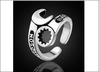 Harley-Davidson Ring - Unisex - Fully Adjustable To Any Size - Stainless Steel