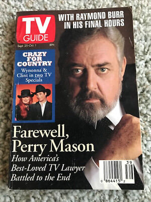 TV Guide Magazine September 25-October 1, 1993 Perry Mason; Los Angeles Edition