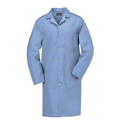 Bulwark EXCEL FR Men's Flame Resistant Lab Coat, Light Blue