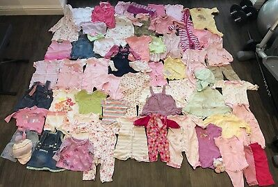 Large Bundle Of Baby Girl Clothes, Next, M&S etc, Age 3-6 Months