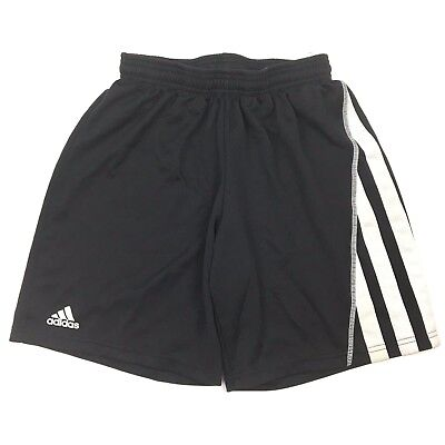 Adidas kids black shorts sz small S mesh activewear clima athletic running AS IS