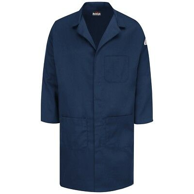Bulwark EXCEL FR Men's Flame Resistant Front Snap Lab Coat, Navy