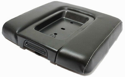Real Leather WIDE Gray Stitch Console Lid Cover Fit 14-18 Chevy Silverado,Sierra