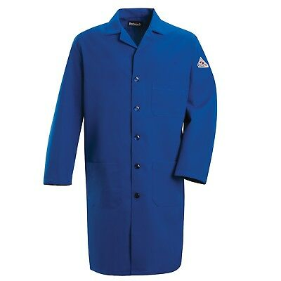 Bulwark FR Men's Flame Resistant Nomex Lab Coat, Blue