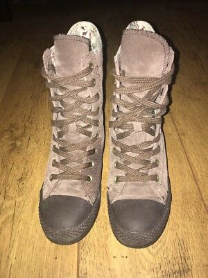 Converse Chuck Taylor All Star Brown Patterned Vintage Boots Size UK 5