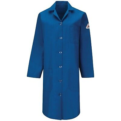 Bulwark FR Women's Flame Resistant Nomex Lab Coat, Blue